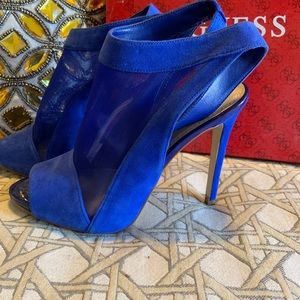 Guess heels in electric Blue